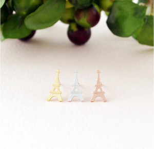 Wholesale eiffel earrings resale online - Fashion eiffel Tower stud earrings