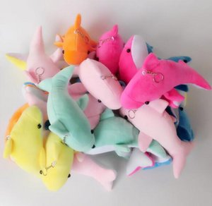 Wholesale Cute Animals Small Dolphin Plush Toy Pendant Mobile Phone Pendant Bag Pendant Small Cloth Dolls Stuffed Animal Toys