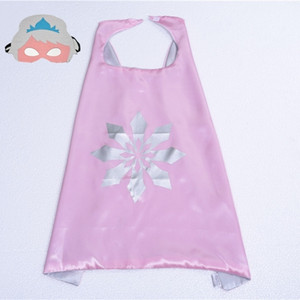 101 designs 70*70cm Double layer Children Cape with Mask kids Cartoon Cosplay Cape for Christmas Halloween Party Cosplay Stage Performance