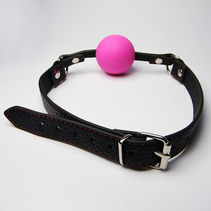 tiras de bola sexo venda por atacado-Standard Play Ball Ball Gags Sex ToyJouets Strap Bondage Color Leather Choose Slave mordaça para com adulto sexuelstoys silicone adultos aecoh