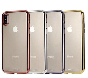 Wholesale For iPhone XS Max XR X S Plus Chromed Clear Plating TPU Gel Case High Quality TPU Soft Case