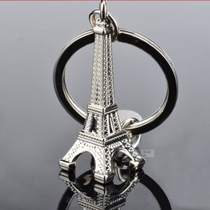 Alloy Paris Eiffel Tower keychains Fashion Key Chains Charms Keyrings 50pcs lot Gift Wholesale Fashion Accessories