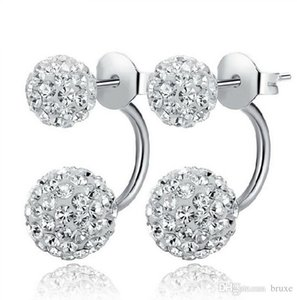 Wholesale High quality silver earrings genuine temperament ladies diamond earrings Shambhala micro diamond earrings princess