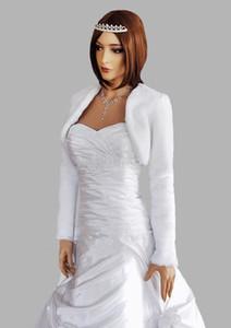 Hot Sale White   Ivory Wedding Jackets With Long Sleeves Faux Fur Cheap Bridal Bolero   Wraps   Shawls   Cape   Coat Wedding Accessories