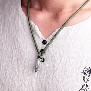 Wholesale Wolf Warriors Wu Jing alloy bullet necklace for men with rope chains pendants
