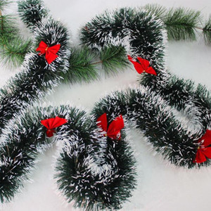 Wholesale 180CM Christmas Decoration Bar Tops Ribbon Garland Christmas Tree Ornaments Green Cane Tinsel Party Supplies q171130
