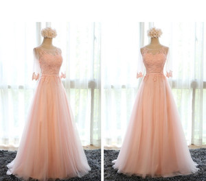 Wholesale new design evening dress sleeves resale online - New Design Formal Evening Dresses Half Sleeve Appliques Sexy Back Floor Length Silver Blush Red Prom Party Pageant Gowns Vestidos Cheap