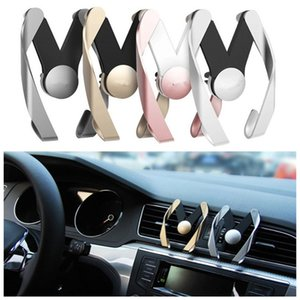 Wholesale Universal M Car Phone Holder Air Vent Mount Mobile Phone Stand HolderFor iPhone Samsung HTC LG Sony ABS Material PM