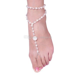 Wholesale Foot Jewelry Pearl Anklet Chain Barefoot Sandal Bridal Beach Ankle Bracelet C00322 BARD