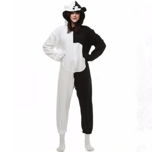 Danganronpa Dangan Ronpa Monokuma Monomi Bear Fleece Onesie Pyjama Costume Halloween Carnival Party Clothing Cartoon Jumpsuit Sleepwear