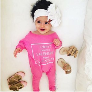 Wholesale good quality cute baby outfit New Autumn winter pink Girls Warm Infant Romper long sleeve Jumpsuit fashion Bodysuit Cotton valentine Clothes