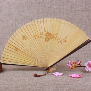 Asian Style Folding Fan Retro Style Hollow Dancing Fan Present Home Decoration Ornaments