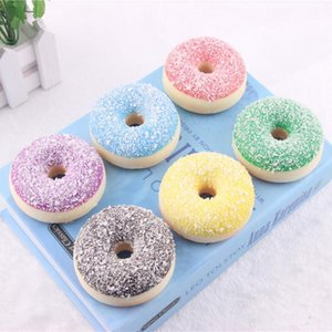 Wholesale 6 cm Kawaii Rare Squishy colorful donut refrigerator magnets mix color squishy packages kids kitchen food toys