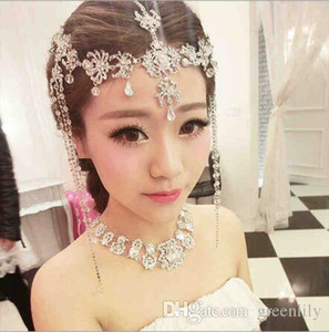 Wholesale Bridal Hair Jewelry Accessories Decoration Women Girl Band Hair Tassel Headband Indian Boho Wedding Head Chain Headwear