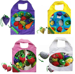 Wholesale New Fruit folding bag of vegetable shopping bags of environmental protection bags Apples carrots watermelon strawberry Storage Bags