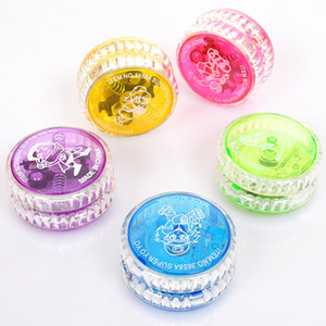 Wholesale YoYo Ball Luminous Toy New LED Flashing Child Clutch Mechanism Yo-Yo Toys for Kids Party Entertainment Bulk Sale