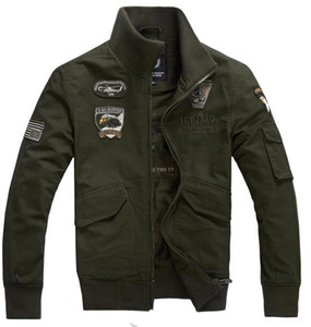 Wholesale Fashion Men s Clothes Male Military Tactical Male Jacket Army Green Khaki Black Cotton padded Military Jacket Military Jacket XL