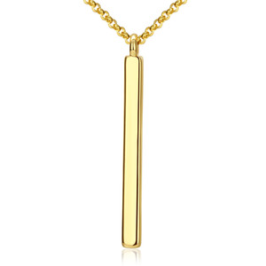 Wholesale antiallergic gold resale online - Extreme Simplicity Long Strip Pendant Necklace European and American Popular K Gold Plated Nickle Not Antiallergic Romantic Necklaces