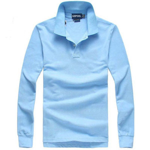 New high quality men Fashion Brand Turn-Down Collar Autumn and winter Men's polo Shirt Long sleeves t -shirts polos on Sale