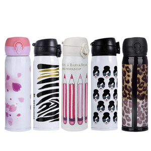 Wholesale 500ml Travel Water Bottle Vacuum Insulated My Bottle Travel Drink Bottle Thermo Lovely Cartoon Sports Water Bottles