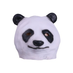 Wholesale Unisex Funny Animals Mask Adult Full Head Latex Panda Woodpecker Sika deer Masks Halloween Party Helmet Props