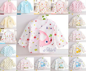 Newborn STAR print infant Baby summer tops baby tops infant underwear coat pure cotton shirt Good Quality on Sale