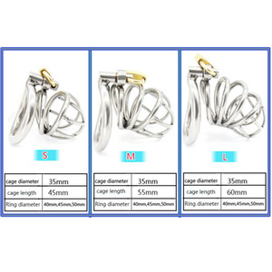 Wholesale Stainless Steel Small Male Chastity device Adult Cock Cage With Curve Cock Ring Sex Toys Bondage Chastity Bondage BDSM Latest Design A224