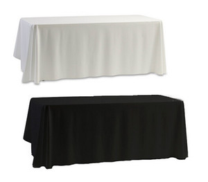 Wholesale table cloths for sale - Group buy White Black Table Cloth Table Cover for Banquet Wedding Party Decor x145cm
