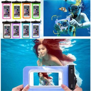 Wholesale Waterproof Pouch Case universal Clear WaterProof Bag Underwater Cover fit for all of the smart mobile phone under inches Iphone Samsung