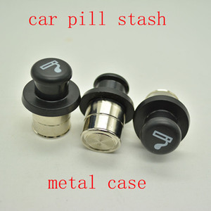 Metal Secret Stash Smoking Car Cigarette Lighter Shaped Hidden Diversion Insert Hidden Pill Box Container Pill Case Storage Box