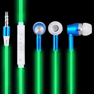 Wholesale 333 Earphones Luminous Glowing Headphone Night Light Glowing Headset Stereo Earpiece With Microphone for iphone Samsung Galaxys