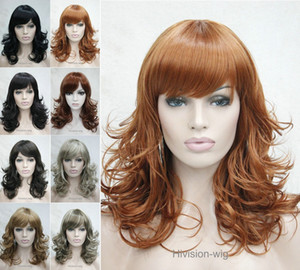 Wholesale beautiful charming hot NEW colors Anti Alice Curly Women Ladies Natural Daily wig Hivision