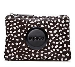 Wholesale MIMCO BLACK WHITE DOT HAIR LEATHER SMALL POUCH ABMBER PATENT SMALL POUCH COGNAC XO SMALL POUCH
