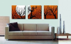 Modern Fine Abstract Tree Painting Giclee Print On Canvas Wall Art Home Decoration Set30396