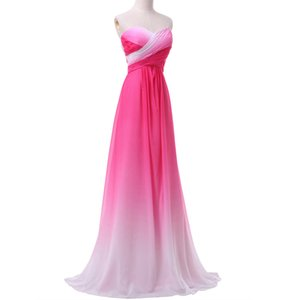 Wholesale Ombre Sweetheart Prom Dresses 2019 Newest Grace Karin Gradient Colorful Sexy party Dresses Sequins Party Gowns Cheap Robe de soiree