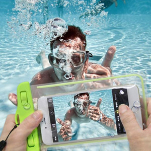 Wholesale Waterproof soft clear PVC phone pouch bags case for iphone X samsung galaxy s8 sport bags