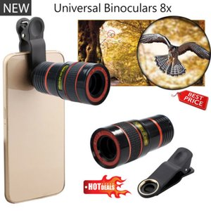 Wholesale 8x Optical Zoom HD Telescope Camera Lens Clip for iPhone plus s Samsung Note S7 Universal Mobile Phone lens