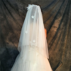 Wholesale Veils Real pictures Purple White Veils for Bridal Ivory good Tulle Fast out