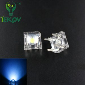 Wholesale 500pcs LED MM Piranha Blue Super Flux Leds pin Dome Wide Angle Super Bright Light Lamp For Car Light High Quality Hot Sale