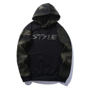 Wholesale USA SIZE Solid Pullover Hoodie Winter Warm Cotton Black White Gray Navy Blue Camouflage Colors Sweatshirt Men Thick Hoodies
