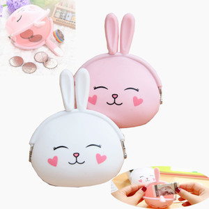 Wholesale Little Rabbit Pruse Silicone Coin Purse Coin Bag Key Handbag Silicone Jelly Coin Purse Money Bag Holder Children's wallet