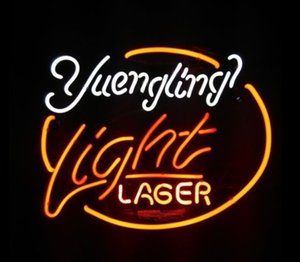 Wholesale Yuengling Light Lager Neon Sign Custom Real Glass Tuble Store Beer Bar Disco KTV Club PUB Display LED Advertisement Neon Signs quot x24 quot