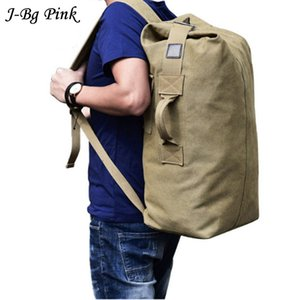 Wholesale Men s Lage Bag Army Bucket Backpack Casual Back Pack Multifunctional Military Canvas Backpacks Cheap Shoulder Bags