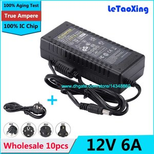 Wholesale ac adapter power supply cord resale online - 10pcs AC DC12V A Adapter Power Supply Cord For LED Rigid Strip Light LED Display LCD Monitor DHL