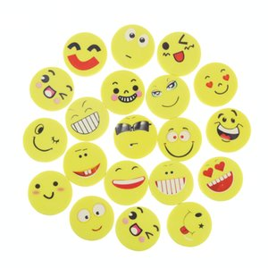 Wholesale 20 Smile Face Erasers Rubber For Pencil Kid Funny Cute Stationery Novelty Eraser Office Accessories School Supplies