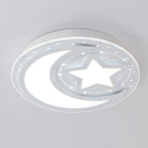 "OOVOV 24W LED Moon Star Ceiling Light 40cm 16"" White Acrylic For Baby Room Bedroom Kid's Room Ceiling Lamp"