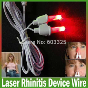 Wholesale nose laser resale online - Nasal health care BioNase rhinitis therapy nose massager wire Hay fever Low frequency pulse laser rhinitis therapy device wire