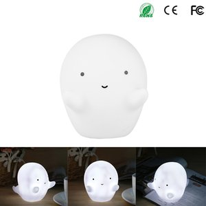 Wholesale Mini White Ghost Led Night Light Baby Toys Led Lamps For Kids Children Christmas Birthday Gift Home Bedroom Decoration