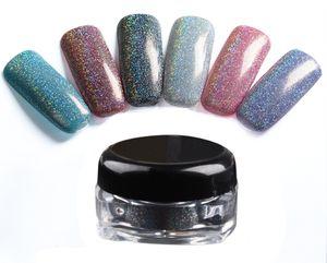6 Colors Makeup Spangle Glitter Nail Art Paillette Acrylic Uv Powder Polish Nail Tips Beauty Metal Manix Accessories Diy