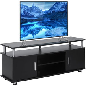 "Home Furniture 50"" TV Stand Entertainment Center Media Console- Black"